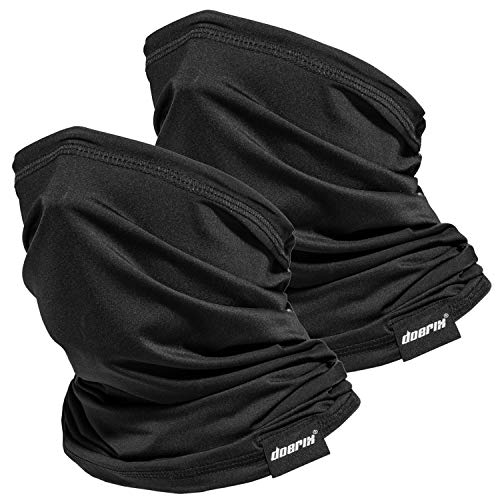 Neck Gaiter Face Mask Reusable, Cloth Face Masks Washable Bandana Face Mask, Sun Dust Protection Balaclava Face Cover Scarf Shield for Fishing Cycling Black