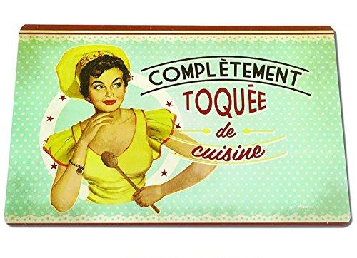 Natives – Set de Table Toquée De Cuisine (Crazy About Cooking) 43.5 x 28.5 cm [Langue française]