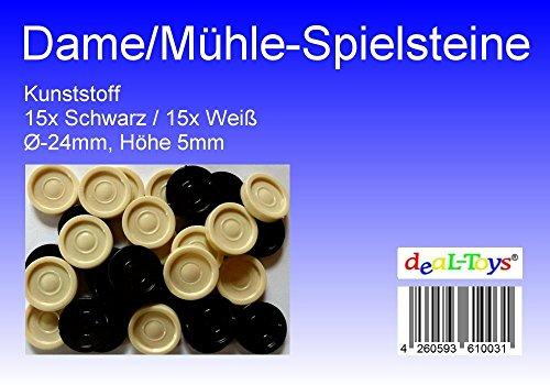 Damesteine Mühlesteine Schwarz