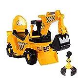 GYAN Eléctrico de los niños Deslizante Toy Boy Excavadora Excavadora Coche Puede Sentarse y Paseo