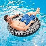 Grandes neumáticos natación inflable Boya Espesar resistente al desgaste Piscina anillo flotante de Neumáticos portátil for niños Piscina for adultos Asiento fiesta en la piscina de natación Juguetes