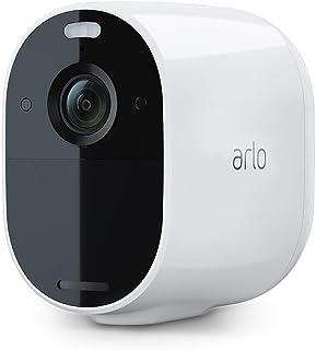 Arlo Essential Spotlight VMC2030, telecamera sorveglianza Wifi senza fili, 1080p, Visione notturna a colori, Audio a 2 vie...