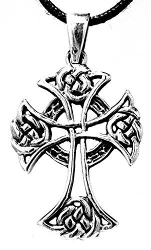 Kiss of Leather Keltenkreuz Anhänger aus 925 Sterling Silber mit Kette 45-65 cm