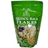 Eden Foods Organic Short Grain Brown Rice Flakes Roasted and Rolled 16 oz 454 g