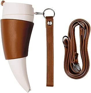 Coffee Travel Mug,230ml - Creative Goat Horns Stainless Steel Thermos Mug