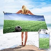 サッカー ビーチタオル バスタオル 旅行 超吸収性 速乾速乾 抗菌防臭 薄手マイクロファイバータオル プール 海水浴