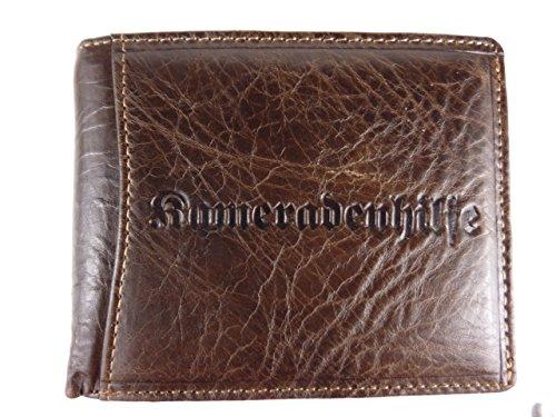 Kameradenhilfe 5349 Herren Leder Geldbörse Querformat 12,5x10x2,5cm (braun)