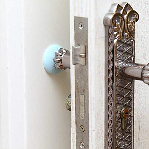 Türstopper, 10 Stück Stoßstangenschutz Stopper Wandschutz Selbstklebender Gummi Stop Türgriff Stoßstange (Grün)