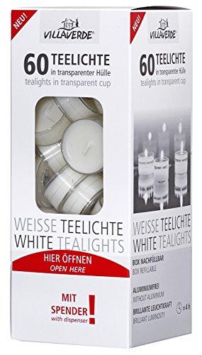 12 Maxi Duftteelichter 8 Stunden Brenndauer transparente H/ülle Kunststoffh/ülle Duftteelichte Villa Verde Jumbo Teelichter Duft: Waldbeeren Acryl Cup Maxilichte Duftkerzen