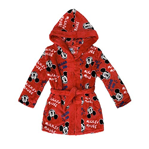 NADA HOME Disney 3846 Robe de chambre d'enfant en polaire avec capuche