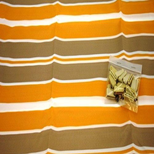 Sonnensegel für Seilspannmarkise Pergola Wintergarten Beschattung Laufhaken , Farbe Größe:Orange Grau Weiß 2.65x1.45m