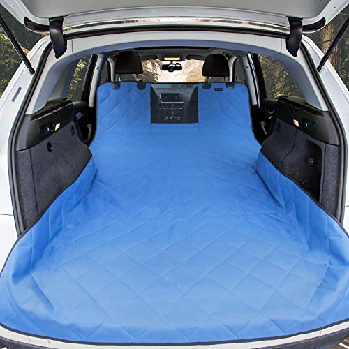 iBuddy SUV Cargo Liner for Dogs with Mesh Window, Waterproof Pet and Dog Cargo Cover for SUV and Jeep with Nonslip Bottom and Anchors Universal Design of SUVs