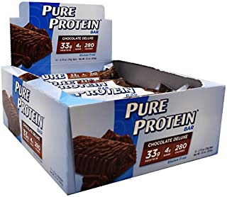 Worldwide Sports Nutrition Pure Protein Bar Chocolate Deluxe - 12 Bars