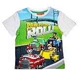 Paw Patrol Camiseta Patrulla Canina- para nios Manga Corta 100% algodn Color Blanco 4 aos