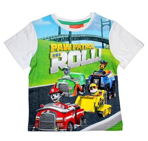 Paw Patrol Camiseta Patrulla Canina- para niños Manga Corta