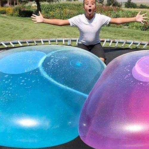 Super Size Bubble Ball Toy for Adults Kids Inflatable Water Ball Beach Garden Ball Soft Rubber Ball Outdoor Party (Blue)