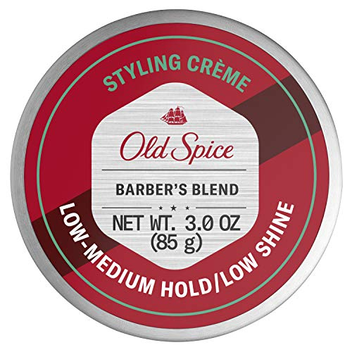 Old Spice Hair Styling Cream for Men, Low-Medium Hold/Low Shine, Barber's Blend Infused with Aloe, 3 Ounce
