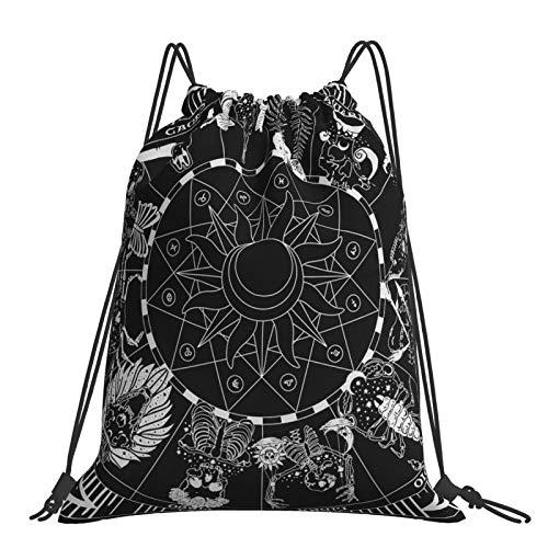 Bolsa de gimnasio personalizada de alta calidad con cordón, kit de escuela de polietileno, mochila deportiva para niños, bolsa de almacenamiento multifuncional