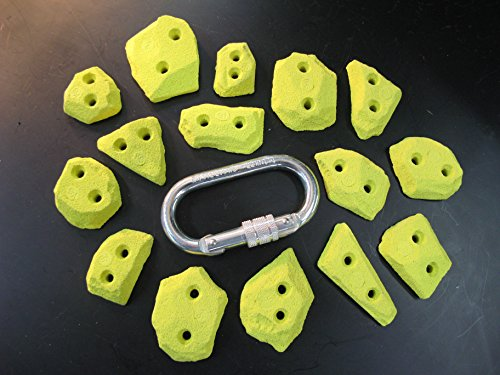 Klettertritte Set Spax 15 Stück (Gelb)