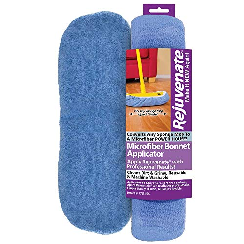 "Rejuvenate Microfiber Bonnet Applicators Fits Standard 9"" Sponge Mop Head - Washable and Reusable Microfiber Mop Bonnets – Pack of 1(Package may vary)"