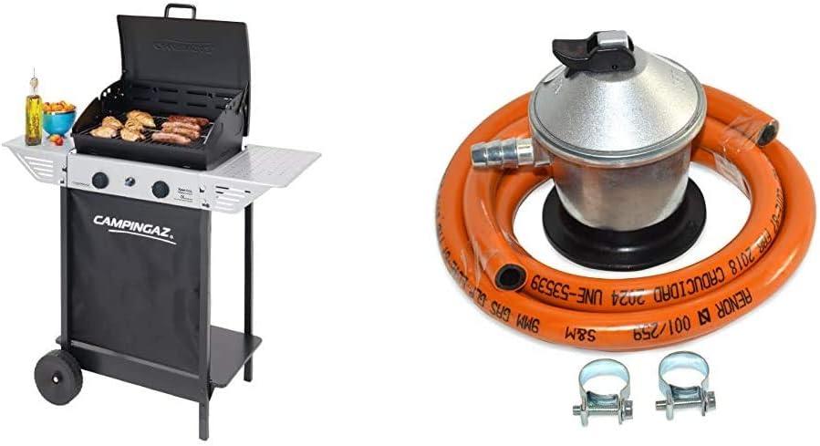 Campingaz Xpert 100 L Barbacoa gas, parrilla gas con dos quemadores compactos + Landmann 0276 Grill Chef Series - Funda protectora para barbacoa, 110 ...