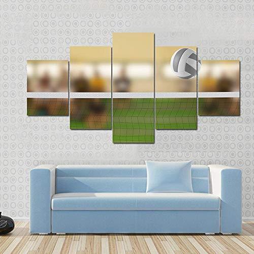 Boisko do siatkówki z obrazkiem z piłką do siatkówki obraz rozciągnięty i oprawiony obraz do dekoracji salonu wiszący bezpośrednio na sypialni