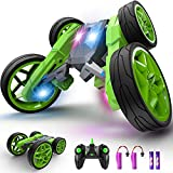 2.4Ghz Anti-interference Control Toy Car: With 2.4GHz interference-free control frequency, the high speed about 10kmh RC toy car allows multiple RC stunt cars to race together at the same time and place. The control distance is about 100ft. LED 360° ...