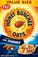 27 oz (パックの 2) 蜂蜜とカリカリ アーモンド穀物、オート麦, 房の記事します。 Post Honey Bunches of Oats with Crispy Almonds Cereal, 27 oz (pack of 2) 海外直送