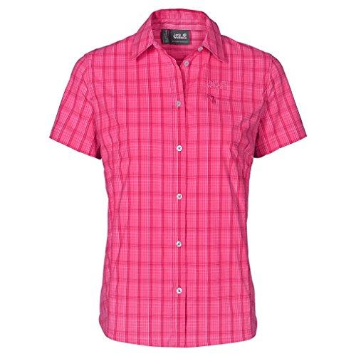 Jack Wolfskin Damen Centaura Stretch Vent Shirt XS Rosa Himbeere Karos