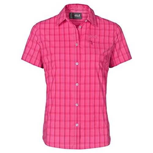 Jack Wolfskin Damen centaura Stretch Vent Shirt XS Pink Raspberry Checks