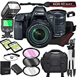 Canon EOS 6D Mark II DSLR Camera Bundle with 24-105mm is STM Lens | Built-in Wi-Fi|26.0 MP Full Frame CMOS Sensor | |DIGIC 7 Image Processor and Full HD Videos + 64GB + TTL Bounce Flash (19pcs)