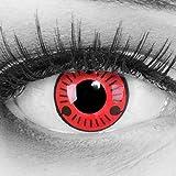 Lentillas de color rojo negro Sasuke 1 par. Para Halloween Carnaval,cosplay de anime, gratis estuche de lentillas sin graduación