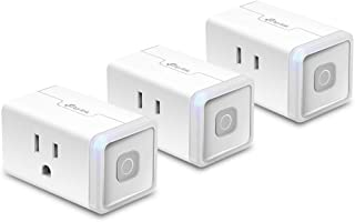Kasa Smart WiFi Plug Lite by TP-Link -10 Amp & Reliable Wifi Connection, Compact Design, No Hub Required, Works With Alexa Echo & Google Assistant (HS103P3) - White (Renewed)