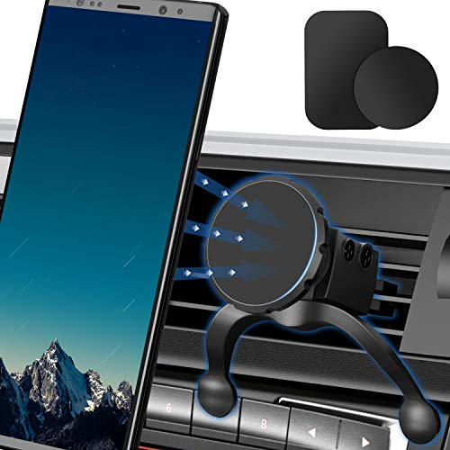 Magnetic Phone Car Mount, Manords Air Vent Car Phone Holder Mount 360 Rotation Car Phone Mount Compatible with iPhone XS/X/X/8/8Plus/7Plus/Samsung Galaxy S9 S8 and More