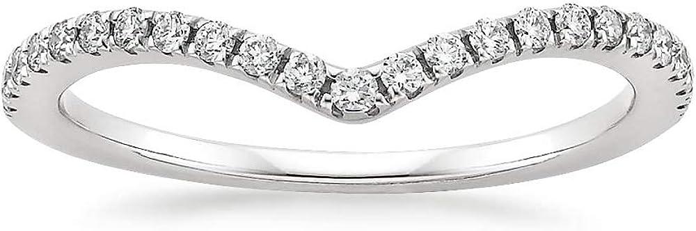 Popularity 10K White Gold Diamond 2MM Half Chevron Weddi Stackable Free shipping on posting reviews Eternity