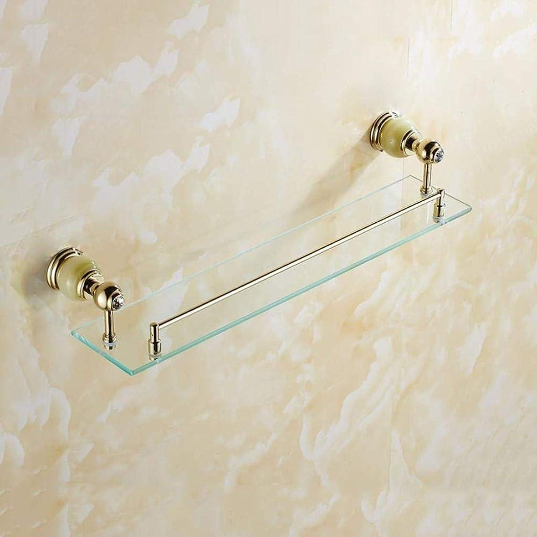 呼びかけるテープ呼びかけるHF-ZEN タオル掛け 浴室の棚フル銅、ガラス浴室の棚、バスルームミラー、翡翠石浴室棚用ガラス棚 風呂 タオル掛け