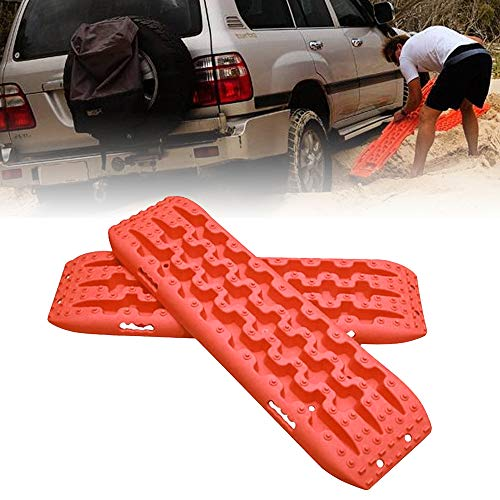 FIREBUG Recovery Track, Recovery Traction Mats for Off-Road Mud, Sand, Snow Vehicle Extraction (Set of 2), Orange