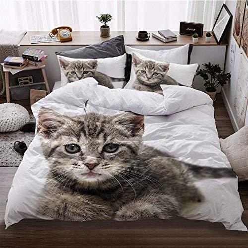 SK-LBB Juego de cama de microfibra con cremallera oculta, adecuado para cama individual y doble (13,150 x 200 cm + 2 x 50 x 75 cm)