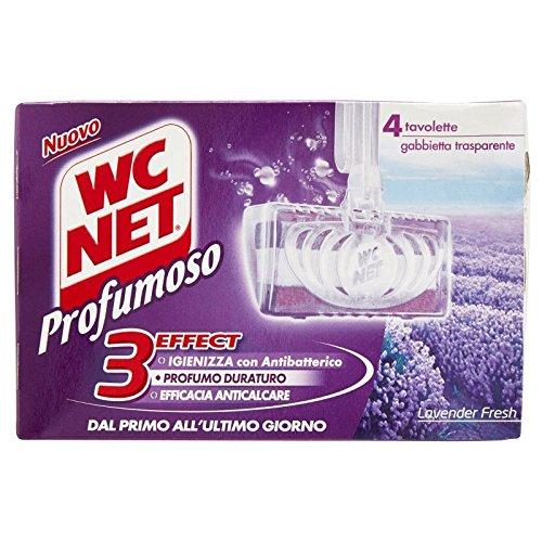 Wc Net - Tableta sólida perfumada lavanda – 4 unidades x 12 – 1632 ml