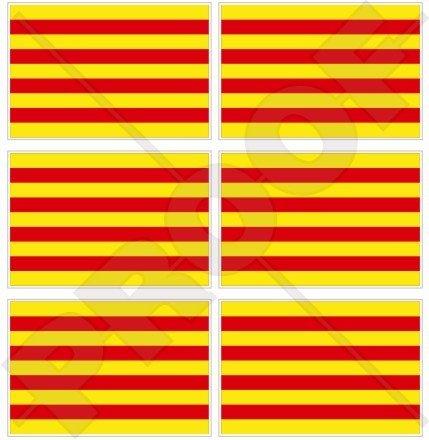 Catalogne Catalan Drapeau Espagne espagnol 40 mm (40,6 cm) Téléphone Mobile Mini en vinyle autocollants, Stickers x6