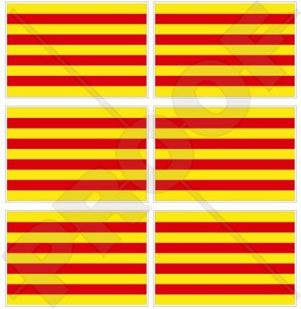 CATALONIA Catalaanse vlag SPANJE Spaans 40mm (1,6