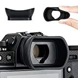 Kiwifotos Portaocular para Fujifilm Fuji X-T4, X-T3, X-T2, X-T1, GFX100, GFX-50S, X-H1, sustituye a Fujifilm EC-XT L, EC-GFX, EC-XT M, EC-XT S, EC-XH W Eyepeice Cup