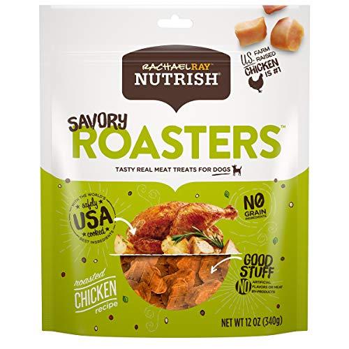 Rachael Ray Nutrish Savory Roasters Dog Treats, Roasted Chicken Recipe, Grain Free 12 Oz.