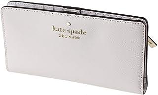 Kate Spade New York Staci - Portafoglio doppio sottile, grande, colore: Bianco tortora