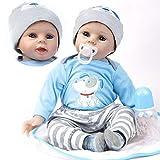 ZIYIUI Réaliste Poupée Reborn Garçon Bébé Reborn Babys Doll Poupons Silicone Bouche magnétique 22 Pouce 55 cm Enfants Jouets