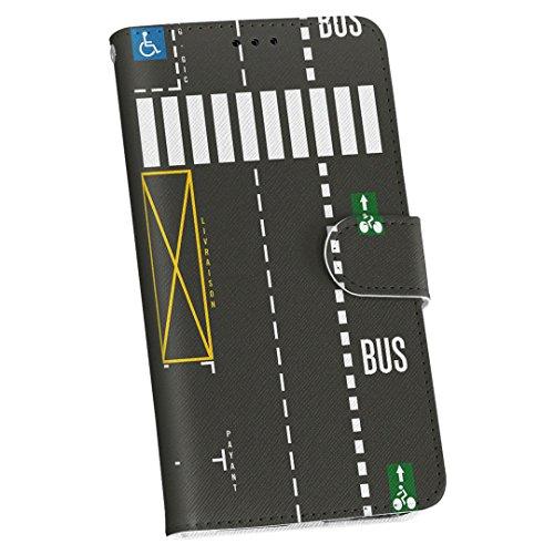igcase AQUOS sense2 SHV43 専用ケース 手帳型スマホカバー カバー ケース ユニーク 車道 道路 005863
