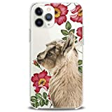 Cavka TPU Cover for Apple iPhone Case 11 Pro Xs Max X 8 Plus Xr 7 SE 6s 5 Cute Clear Floral Phone Soft Print Baby Animals Teen Gift Girl Lightweight Goat Flexible Silicone Slim fit Pet Kawaii Design
