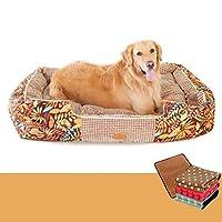 スエード ペット 犬 ベッド, 快適 暖かい 滑り止め, 取り外し可能なカバー 洗える 座布団-B XL