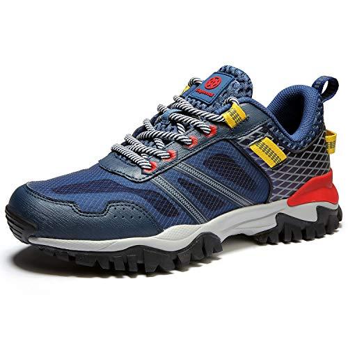 Hsyooes Trekking und Wanderschuhe für Herren Damen Outdoor rutschfest Schuhe Sport Sneakers Leichte Kletterschuhe, Blau-b, (Herstellergröße: 40)