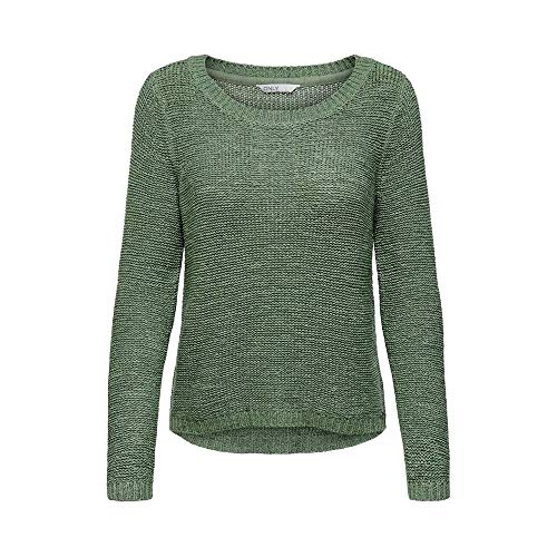 ONLY Damen ONLGEENA XO L/S KNT NOOS Pullover, Hedge Green, XS